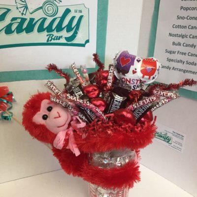 Valentine's Vase wtih Stuffed Animal